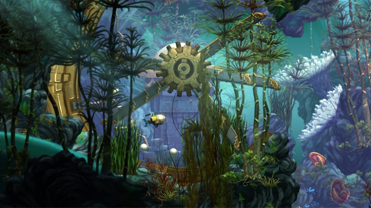 """This image released by Insomniac Games Inc. shows a scene from the video game, """"Song of the Deep."""" Gamestop is partnering with Insomniac Games to release the studio's upcoming underwater-set adventure """"Song of the Deep."""" The Grapevine, Texas-based company will also sell """"Song of the Deep"""" merchandise. (Insomniac Games Inc. via AP)"""