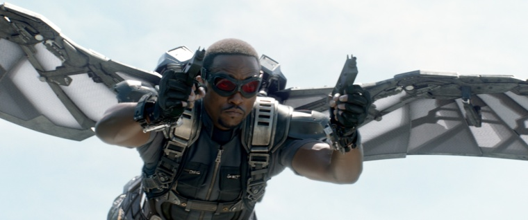 Marvel's Captain America: The Winter Soldier Falcon/Sam Wilson (Anthony Mackie) Ph: Film Frame © 2014 Marvel. All Rights Reserved.